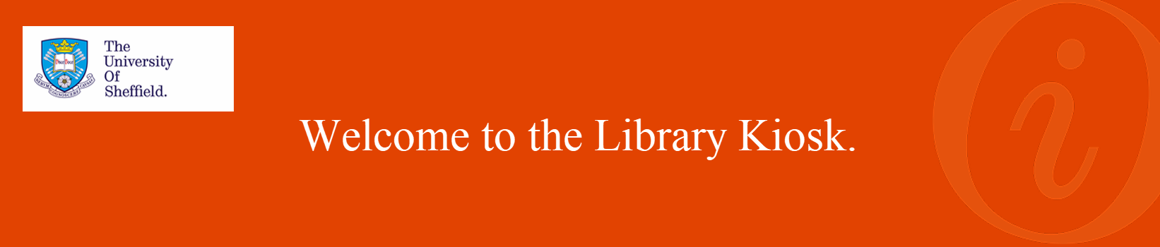 University of Sheffield: Library Help banner