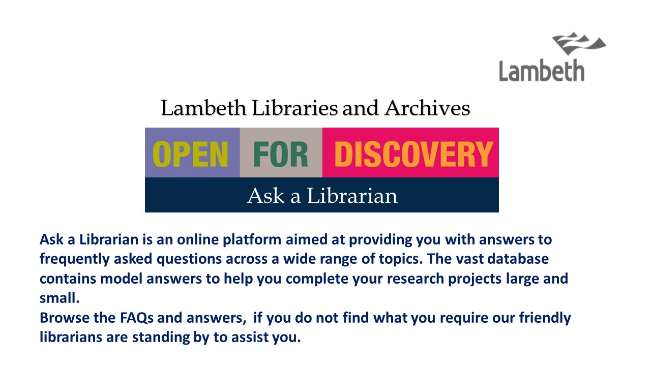 London Borough of Lambeth: Homepage banner