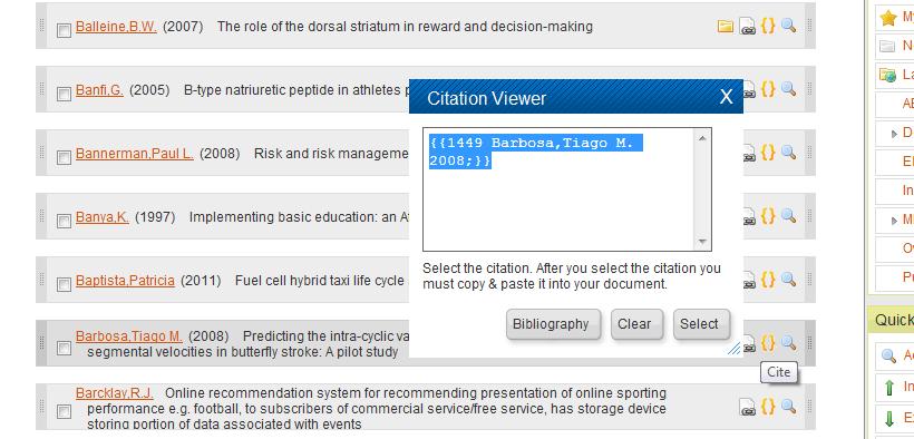 RefWorks citation placeholder code
